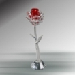 Crystal Red Rose with base