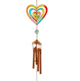 Rainbow Heart Chime