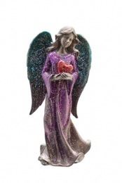Pewter lilac Standing Angel H13xW6 cm