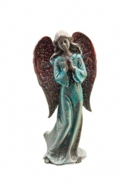 Pewter  blue Standing Angel H13xW6 cm